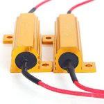 Amazenar 4 Pack de 50 W 6ohm Résistance de Charge pour LED Clignotant Lumière (Fix Hyper Flash, Avertissement Canceller, Fix ERROR Presque Flash) avec 4pcs Quick Wire Clip de la marque AMAZENAR image 3 produit