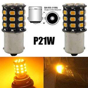 AMAZENAR Paquet de 2 1156 BA15S 1141 1073 7506 1003 Ampoules de Clignotants de Voiture - 12V-24V Ampoule / Ampoule de LED 2835 33 SMD Extrêmement Clair - Remplacement pour Ampoule LED de Clignotant de Queue de la marque AMAZENAR image 0 produit