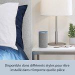 Amazon Echo (2ème génération), Tissu gris chiné + Kit de démarrage Philips Hue White E27 (2 ampoules + pont de connexion Hue) de la marque image 3 produit