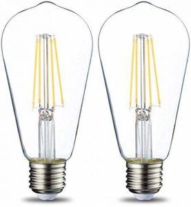 AmazonBasics Ampoule à incandescence E27 ST64 style rétro, 60W - Lot de 2 de la marque AmazonBasics image 0 produit
