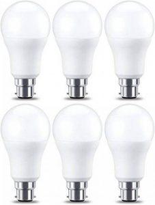 AmazonBasics Ampoule LED à baïonnette B22 A60, 10.5W (équivalent ampoule incandescente de 75W), blanc chaud - Lot de 6 de la marque AmazonBasics image 0 produit