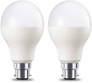 AmazonBasics Ampoule LED à baïonnette B22 A67, 14W (équivalent ampoule incandescente de 100W), blanc chaud, dimmable - Lot de 2 de la marque AmazonBasics image 0 produit