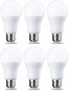 AmazonBasics Ampoule LED E27 A60 avec culot à vis, 10.5W (équivalent ampoule incandescente 75W),blanc chaud - Lot de 6 de la marque AmazonBasics image 0 produit