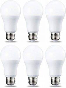 AmazonBasics Ampoule LED E27 A60 avec culot à vis, 10W (équivalent ampoule incandescente 75W), blanc froid - Lot de 6 de la marque AmazonBasics image 0 produit