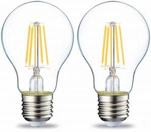 AmazonBasics Ampoule LED E27 A60 avec culot à vis, 4W (équivalent ampoule incandescente 40W), transparent avec filament - Lot de 2 de la marque AmazonBasics image 0 produit