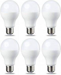 AmazonBasics Ampoule LED E27 A60 avec culot à vis, 8.5W (équivalent ampoule incandescente 60W),blanc chaud - Lot de 6 de la marque AmazonBasics image 0 produit