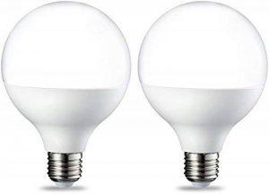 AmazonBasics Ampoule LED Globe E27 G93, 14.5W (équivalent ampoule incandescente de 100W), blanc chaud - Lot de 2 de la marque AmazonBasics image 0 produit