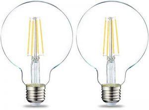 AmazonBasics Ampoule LED Globe E27 G93 à filament, 7W (équivalent ampoule incandescente de 60W) - Lot de 2 de la marque AmazonBasics image 0 produit
