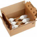 AmazonBasics Petite ampoule bougie LED E14 B35 avec culot à vis, 5.5W (équivalent ampoule incandescente de 40W), blanc chaud - Lot de 6 de la marque AmazonBasics image 3 produit
