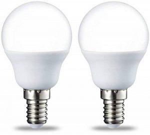 AmazonBasics Petite ampoule LED E14 P45 type globe, avec culot à vis, 5.5W (équivalent ampoule incandescente de 40W), blanc chaud - Lot de 2 de la marque AmazonBasics image 0 produit