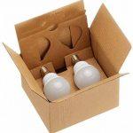 AmazonBasics Petite ampoule LED E14 P45 type globe, avec culot à vis, 5.5W (équivalent ampoule incandescente de 40W), blanc chaud - Lot de 2 de la marque AmazonBasics image 4 produit