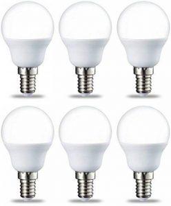 AmazonBasics Petite ampoule LED E14 P45 type globe, avec culot à vis, 5.5W (équivalent ampoule incandescente de 40W), blanc chaud - Lot de 6 de la marque AmazonBasics image 0 produit