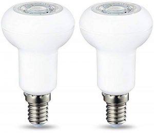AmazonBasics Spot LED E14 R50, avec culot à vis et lentille réfléchissante, 3.5 W (équivalent ampoule incandescente de 40W), blanc froid, dimmable - Lot de 2 de la marque AmazonBasics image 0 produit
