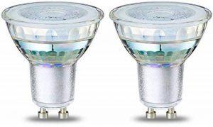 AmazonBasics Spot LED type GU10, 4.6W (équivalent ampoule incandescente de 50W), verre - Lot de 2 de la marque AmazonBasics image 0 produit