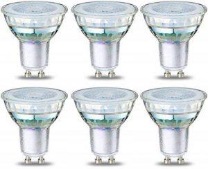 AmazonBasics Spot LED type GU10, 4.6W (équivalent ampoule incandescente de 50W), verre - Lot de 6 de la marque AmazonBasics image 0 produit