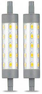 AmazonBasics Spot projecteur halogène LED R7S à double extrêmités, 6.5W (équivalent ampoule incandescente 60W), blanc chaud, 118 mm - Lot de 2 de la marque AmazonBasics image 0 produit