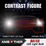 AMBOTHER 2pcs P21W BA15s LED Ampoule Auto Phare Brouillard Feu Anti-brouillard de la marque AMBOTHER image 2 produit