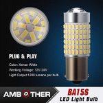AMBOTHER 2pcs P21W BA15s LED Ampoule Auto Phare Brouillard Feu Anti-brouillard de la marque AMBOTHER image 3 produit