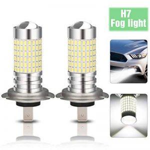 AMBOTHER 2x H7 LED Éclairage Avant Blanc Ampoules Lumière de Brouillard Auto 144 SMD Antibrouillard de Voiture 100W de la marque AMBOTHER image 0 produit