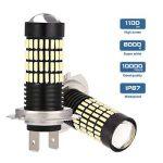 AMBOTHER® H7 LED Phare antibrouillard 4014 SMD 102 LED Ampoule antibrouillard 5W 6000K DC12-24V de la marque AMBOTHER image 1 produit