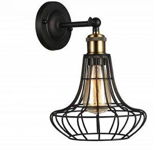 American Retro Lampe Murale Vent Industriel Net Fer Comptoir De Bar Restaurant Appliques Appliques Fil Passerelle E27 110-220V de la marque CCYYJU image 0 produit