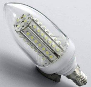 Ampoule 12- 24 V 60 LEDs E14 - Eclairage naturel de la marque LED 4G image 0 produit