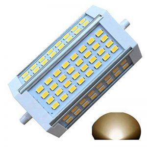 Ampoule à intensité variable LED R7s J118118mm 30W Lumière chaude 3000K 220V AC 3000 lm à double extrémité J Projecteur LED pour R7s 200W 300W 400W halogène de remplacement de la marque qlee image 0 produit