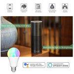 Ampoule Alexa, ampoule LED Smart Hue, ampoule E27 Ampoule RGBW compatible avec Amazon Alexa et Google Home, Dimmable, 60W équivalent, jusqu'à 16 millions de couleurs, contrôlable via App, 7W de la marque GresatekEU image 2 produit