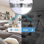 Ampoule Caméra HD avec 32GB SD Card, Camera de Surveillance Wifi Panorama 960P, Cachée Caméra IP, Sans Fil, Infrarouge, Vision Nocturne, Audio Bidirectionnel, Détection de Mouvement, Cameras Sécurité pour iPhone/ Android Phone/ iPad - REIGY de la marque R image 4 produit