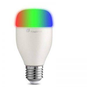 Ampoule Connectée Compatible Alexa, Houzetek Ampoule LED e27 6W Ampoule Lampe Intelligente - Lampe Connectée Version Multicolore en 16 Millions - Compatible avec Amazon Alexa, Téléphone et Tablette - Pas besoin de hub de la marque Houzetek image 0 produit
