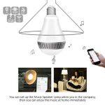 Ampoule connectée, Morpilot Ampoule Bluetooth encenite - Ampoule de couleur avec haut-parleur, Lampe intelligente LED RGB E27 Contrôlée par iPhone/iPad / Appareils Android/Tablette de la marque morpilot image 4 produit