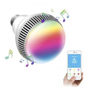 Ampoule connectée, Morpilot Ampoule Bluetooth encenite - Ampoule de couleur avec haut-parleur, Lampe intelligente LED RGB E27 Contrôlée par iPhone/iPad / Appareils Android/Tablette de la marque morpilot image 0 produit