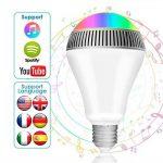 Ampoule connectée, Morpilot Ampoule Bluetooth encenite - Ampoule de couleur avec haut-parleur, Lampe intelligente LED RGB E27 Contrôlée par iPhone/iPad / Appareils Android/Tablette de la marque morpilot image 1 produit