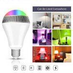 Ampoule connectée, Morpilot Ampoule Bluetooth encenite - Ampoule de couleur avec haut-parleur, Lampe intelligente LED RGB E27 Contrôlée par iPhone/iPad / Appareils Android/Tablette de la marque morpilot image 3 produit