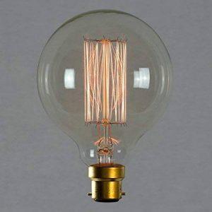 Ampoule déco à filament long - Grosse sphérique à filament rétro 95mm B22 60W - The Retro Boutique de la marque The Retro Boutique image 0 produit