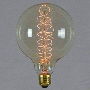 Ampoule déco à filament spirale - Géant sphérique à filament rétro vintage industrie 125mm E27 60W - The Retro Boutique de la marque The Retro Boutique image 0 produit