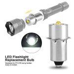 Ampoule de lampe de poche LED Puissance 3W 4-12V pièce de rechange LED Kit de conversion Ampoules LED haute luminosité de travail d'urgence Lampe de poche lampe de poche ampoules de rechange(Blanc du jour) de la marque eecoo image 1 produit
