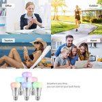 Ampoule E27 Intelligente LED WiFi, Bawoo 7W Ampoule Connectée Ecologique Lumiere Couleurs RGB Compatible Avec Amazon Alexa Google Home IFTTT Télécommande Par Smartphone de la marque Bawoo image 3 produit