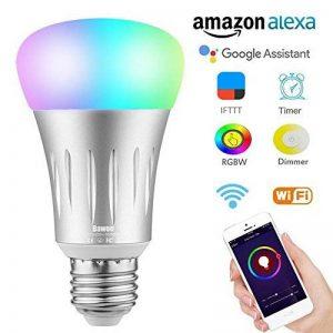 Ampoule E27 Intelligente LED WiFi, Bawoo 7W Ampoule Connectée Ecologique Lumiere Couleurs RGB Compatible Avec Amazon Alexa Google Home IFTTT Télécommande Par Smartphone de la marque Bawoo image 0 produit