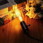 Ampoule E27 Vintage, Elfeland 6W Edison Ampoule LED Antique Filament Ambre Verre 2200K 600LM Dimmable Lumière Blanc Chaud Parfait pour Nostalgie et L'éclairage Rétro Modèle ST64-3 Packs de la marque Elfeland image 1 produit
