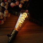 Ampoule E27 Vintage Elfeland LED Lampe Rétro Ampoule Antique en Spirale Filement Remplace Ampoules à Incandescence (3W, 2200K, Dimmable, Ambre Verre) Idéal pour la Nostalgie et L'éclairage Rétro de la marque Elfeland image 1 produit