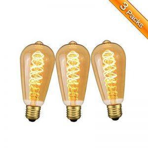 Ampoule E27 Vintage Elfeland LED Lampe Rétro Ampoule Antique en Spirale Filement Remplace Ampoules à Incandescence (3W, 2200K, Dimmable, Ambre Verre) Idéal pour la Nostalgie et L'éclairage Rétro de la marque Elfeland image 0 produit