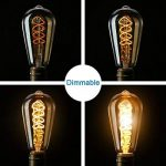 Ampoule E27 Vintage Elfeland LED Lampe Rétro Ampoule Antique en Spirale Filement Remplace Ampoules à Incandescence (3W, 2200K, Dimmable, Ambre Verre) Idéal pour la Nostalgie et L'éclairage Rétro de la marque Elfeland image 3 produit