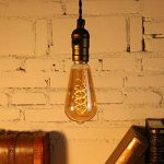 Ampoule E27 Vintage Elfeland LED Lampe Rétro Ampoule Antique en Spirale Filement Remplace Ampoules à Incandescence (3W, 2200K, Dimmable, Ambre Verre) Idéal pour la Nostalgie et L'éclairage Rétro de la marque Elfeland image 2 produit
