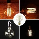 Ampoule E27 Vintage,Fil Lampe Rétro Antique 220-240V Grosse Ampoule 40W Edison Globe G80 Ampoule Filament Blanc Chaud 2 Pack de la marque Aurora France image 4 produit