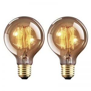 Ampoule Edison E27 Dimmable Vintage Lampe Edison Antique Filament Rétro Lumière Globe G80 Blanc Chaud 220-240V - 2 Pack de la marque YUNLIGHTS image 0 produit