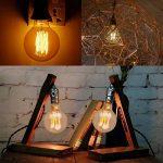 Ampoule Edison E27 Dimmable Vintage Lampe Edison Antique Filament Rétro Lumière Globe G80 Blanc Chaud 220-240V - 2 Pack de la marque YUNLIGHTS image 1 produit