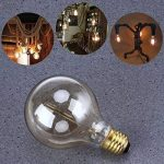 Ampoule Edison E27 Dimmable Vintage Lampe Edison Antique Filament Rétro Lumière Globe G80 Blanc Chaud 220-240V - 2 Pack de la marque YUNLIGHTS image 2 produit