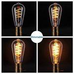 Ampoule Edison, Elfeland 3W Ampoule LED E27 Vintage Lampe Décorative Antique Spirale Filament 2200K 180LM Lumière Blanc Chaud Convient à l'éclairage Rétro et Nostalgique Modèle ST64-3 Packs de la marque ELFELAND image 3 produit