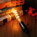 Ampoule Edison, Elfeland 3W Ampoule LED E27 Vintage Lampe Décorative Antique Spirale Filament 2200K 180LM Lumière Blanc Chaud Convient à l'éclairage Rétro et Nostalgique Modèle ST64-3 Packs de la marque ELFELAND image 1 produit